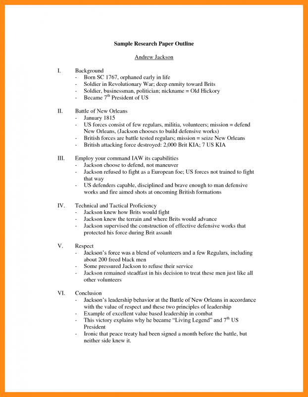 How To Write A Research Paper Outline Template Business