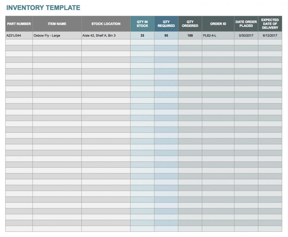 Inventory Template Google Sheets Template Business