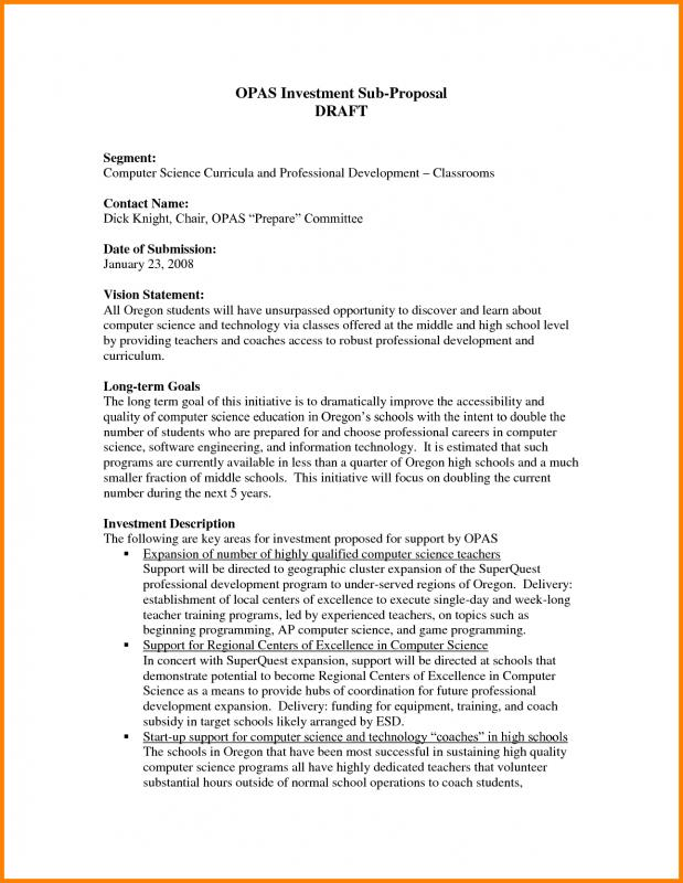 Investment Proposal Template Template Business