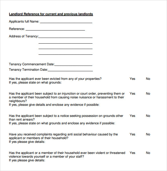 Landlord Recommendation Letter Template Business