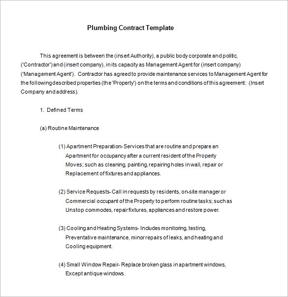 Lawn Maintenance Contract Template Business