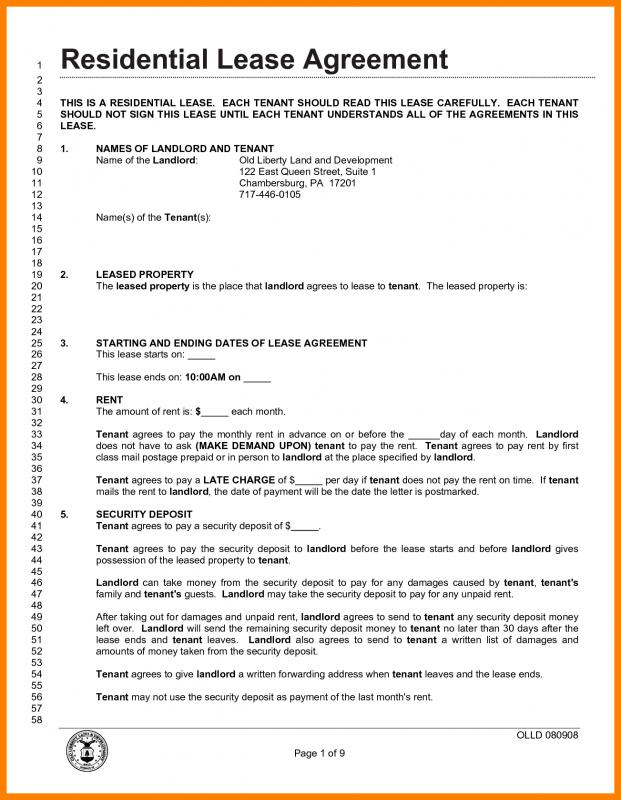 rental lease agreement pdf - Onwebioinnovate - lease agreement in pdf