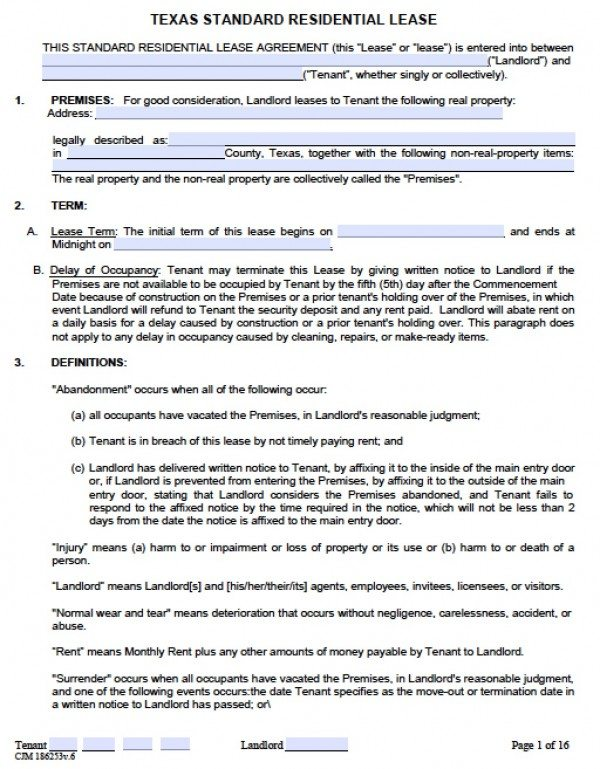 Lease Agreement Template Word Template Business