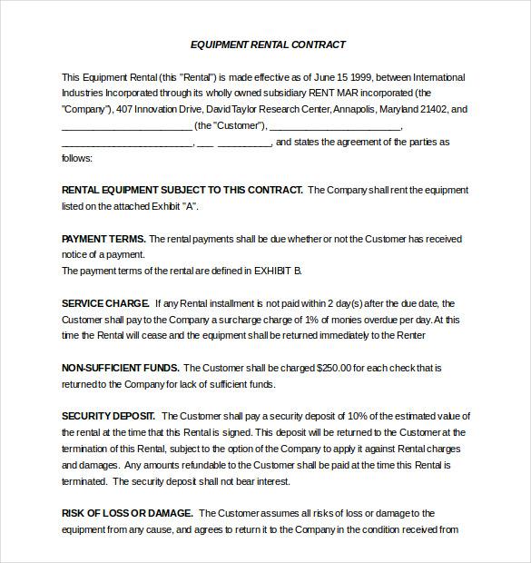 Lease Agreement Template Word Template Business - lease agreement template word