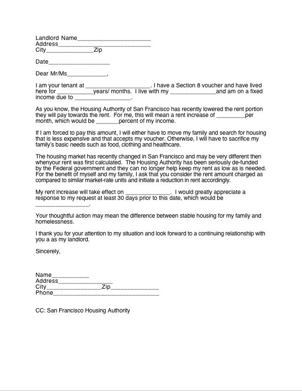 Lease Renewal Letter Template Business - Letter To Landlord