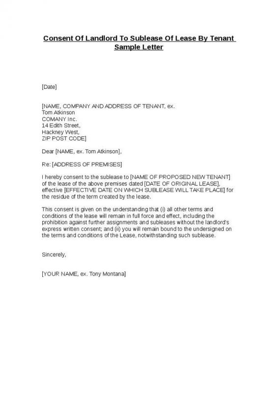 Lease Termination Letter Landlord To Tenant Template Business