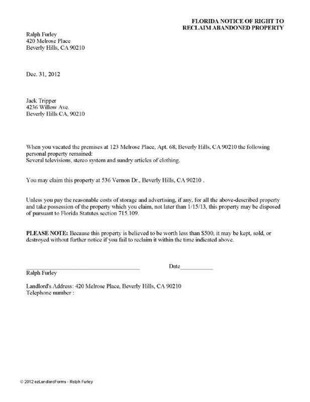 Lease Termination Letter To Tenant Template Business