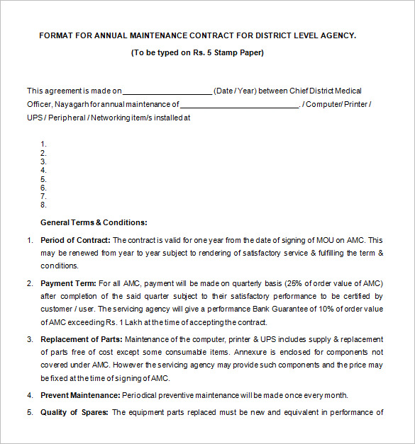 Legal Contract Template Template Business