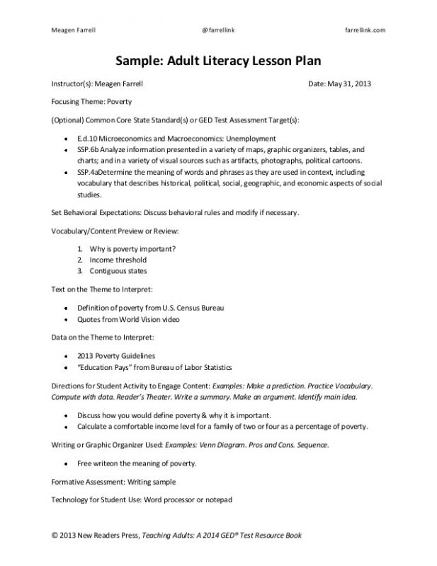 outline lesson plan example - Josemulinohouse - sample common core lesson plan