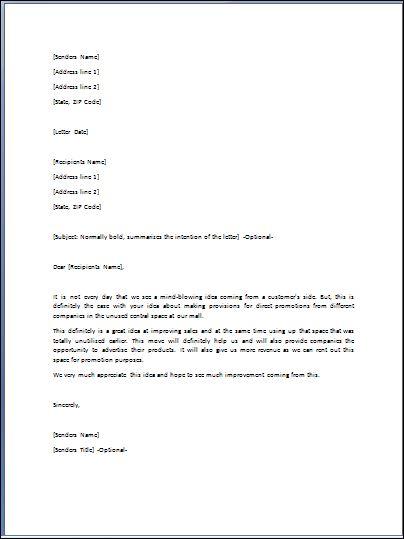 Letter Format Formal Template Business