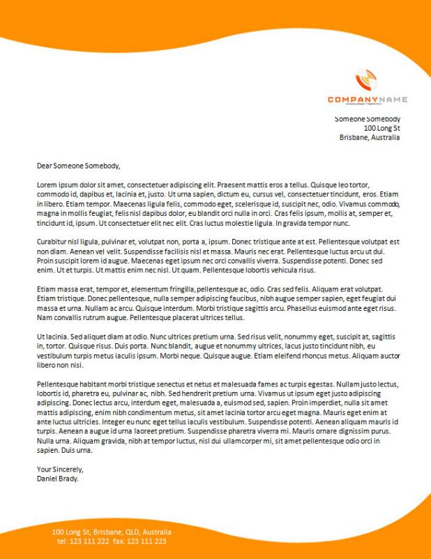 Letter Headed Templates Template Business