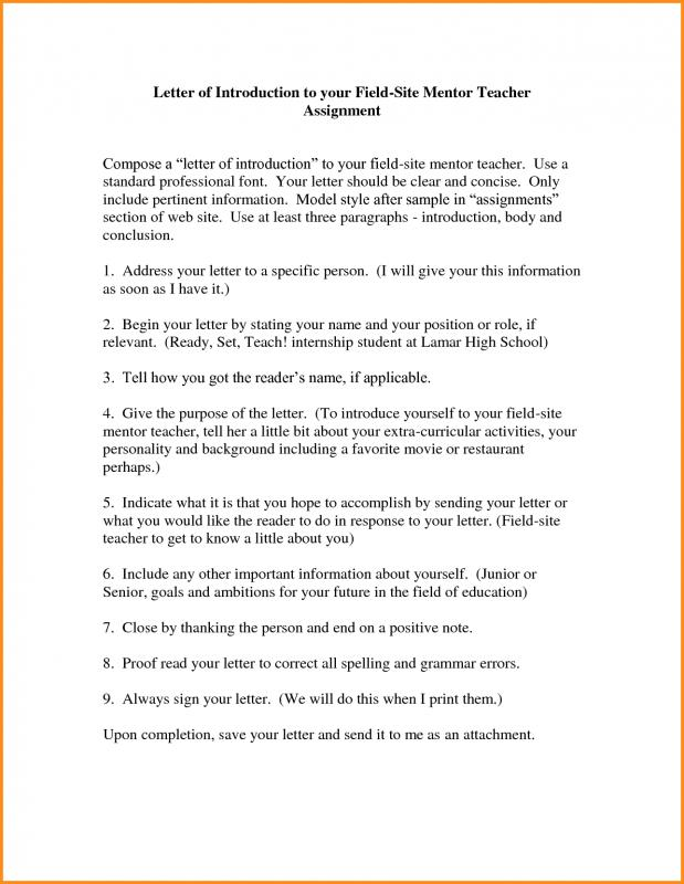 Letter Of Introduction For Teachers Template Business