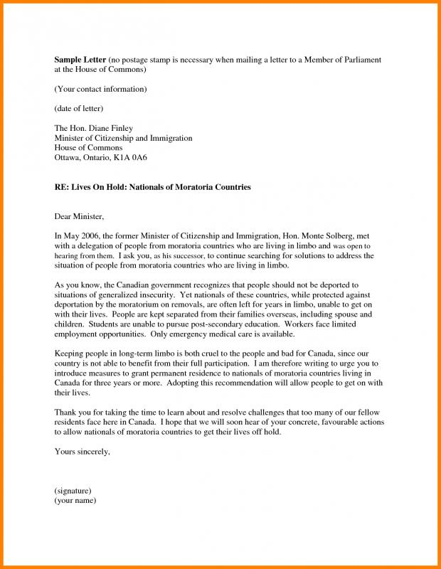 Letter Of Recommendation For Immigration Template Business