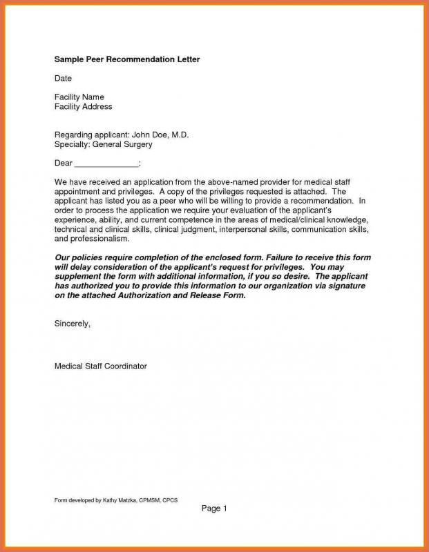 Letter Of Reference Format Template Business