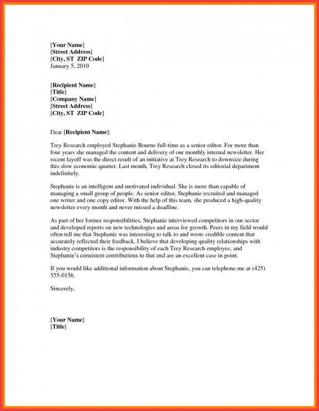 Letter Template Word Template Business