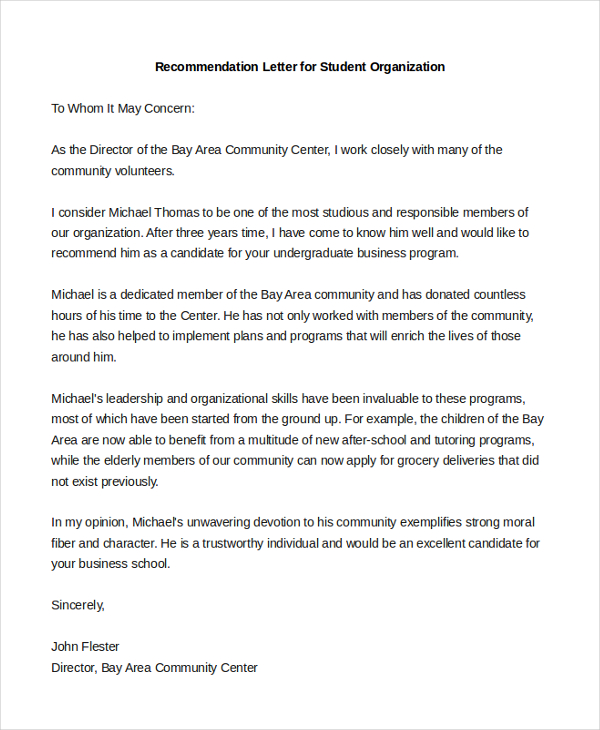 Letters Of Recommendation For Student Teacher Template Business
