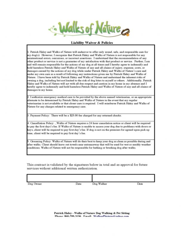 Liability Waiver Form Free Template Business