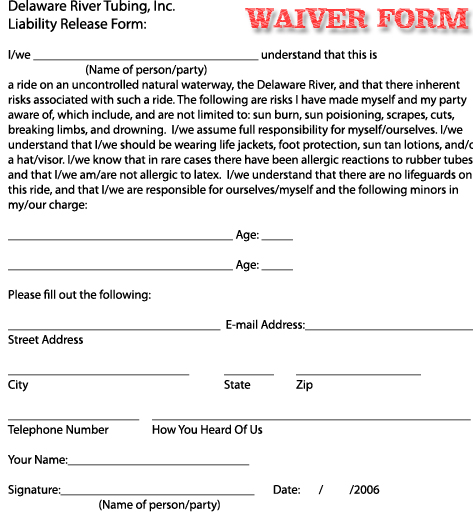 Liability Waiver Form Free Template Business - liability waiver template word