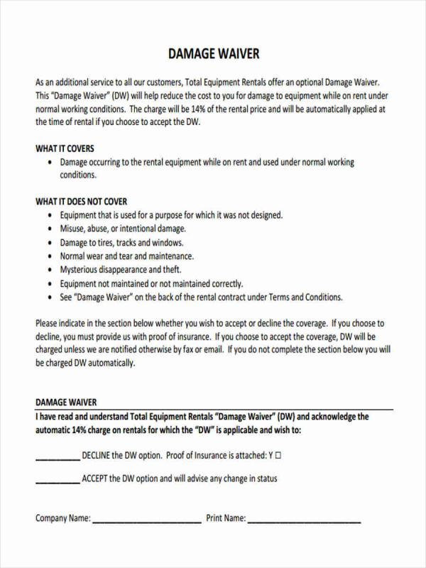 Liability Waiver Form Pdf Template Business