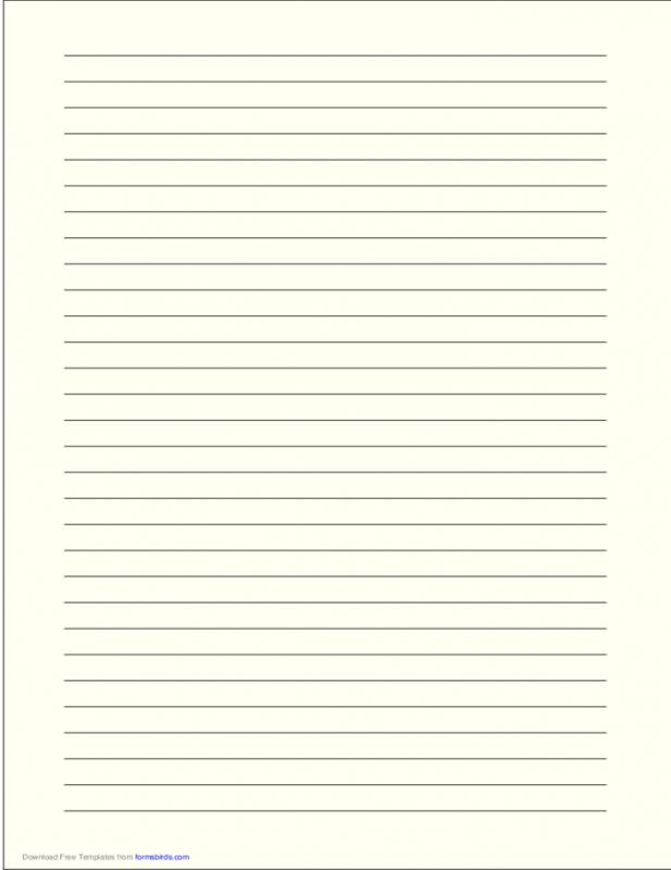 Lined Paper Template Pdf Template Business - lined template