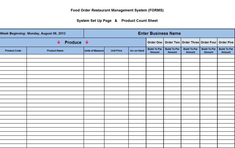 Liquor Inventory Spreadsheet Template Business