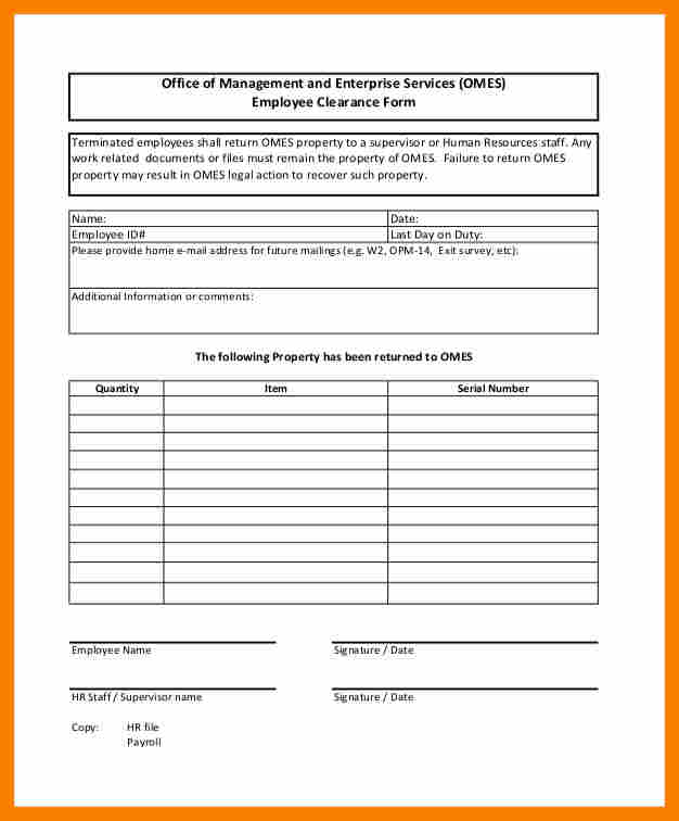 Employee Clearance Form free employee application form - medical clearance forms