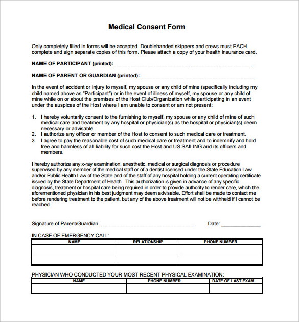 Medical Consent Form For Grandparents Template Business