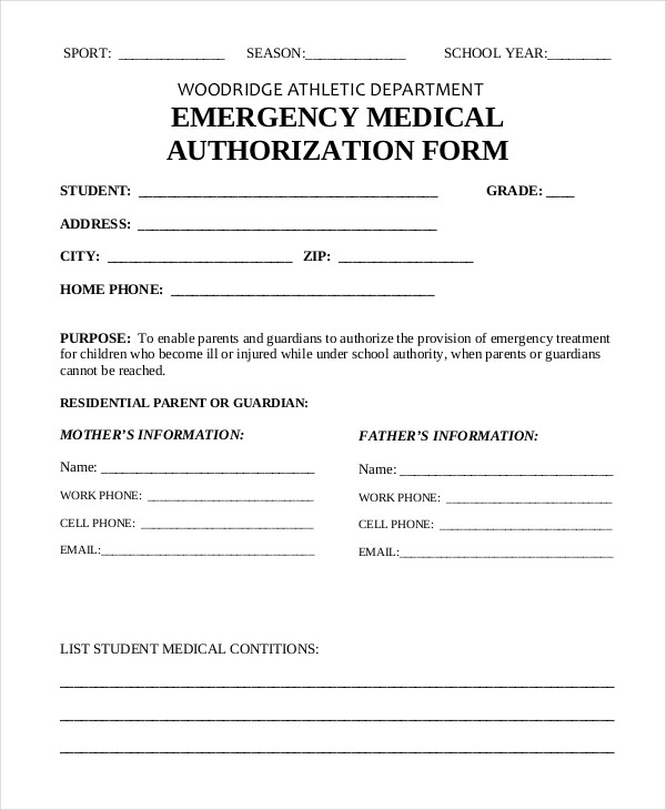 medical consent form for grandparents - Selol-ink