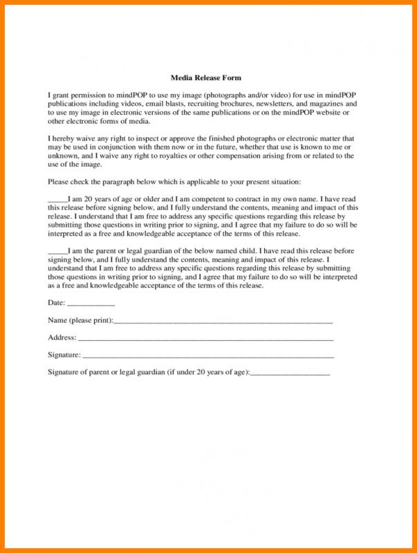 Medical Release Form Template Template Business - general release form template