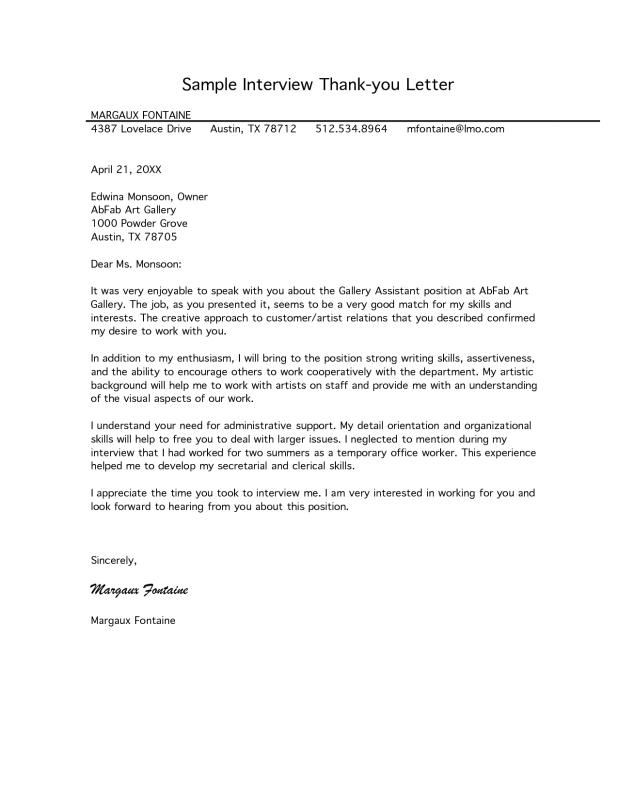 Medical School Interview Thank You Letter Template Business
