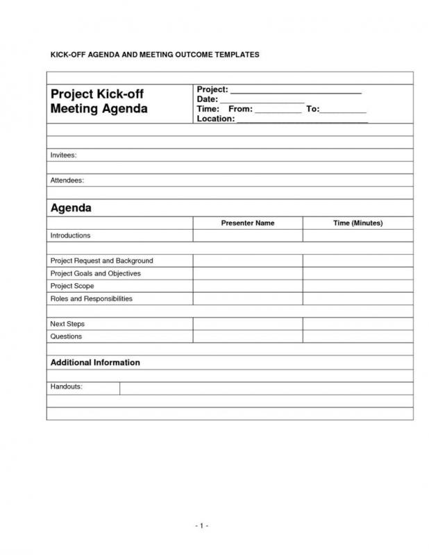 Meeting Agendas Examples Template Business