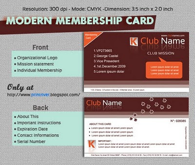 Membership Card Template Template Business