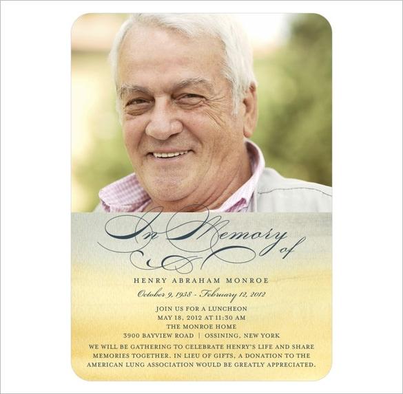 Memorial Card Template Template Business - memorial card template
