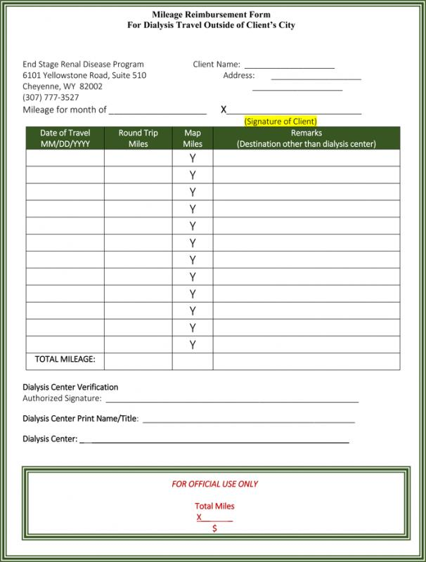Mileage Reimbursement Form Template Business - Mileage Reimbursement Forms