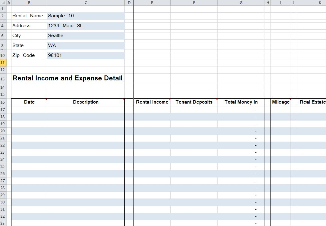 Mileage Tracker Excel Template Business