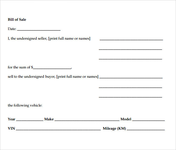 Motorcycle Bill Of Sale Pdf Template Business