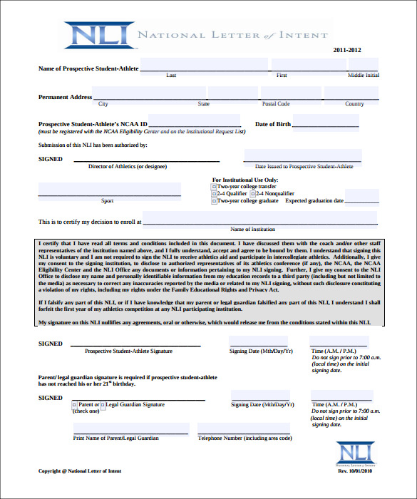 National Letter Of Intent Template Business - loi template