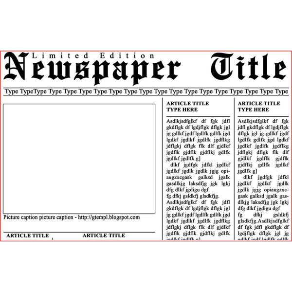 newspaper headline template microsoft word