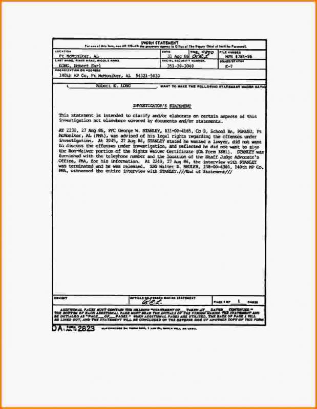 Notary Statement Template Template Business