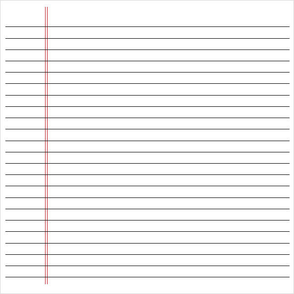 Notebook Paper Pdf Template Business - Print College Ruled Paper