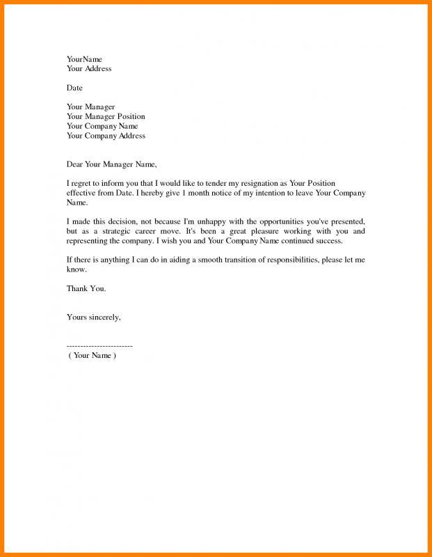 Nursing Resignation Letter Template Business