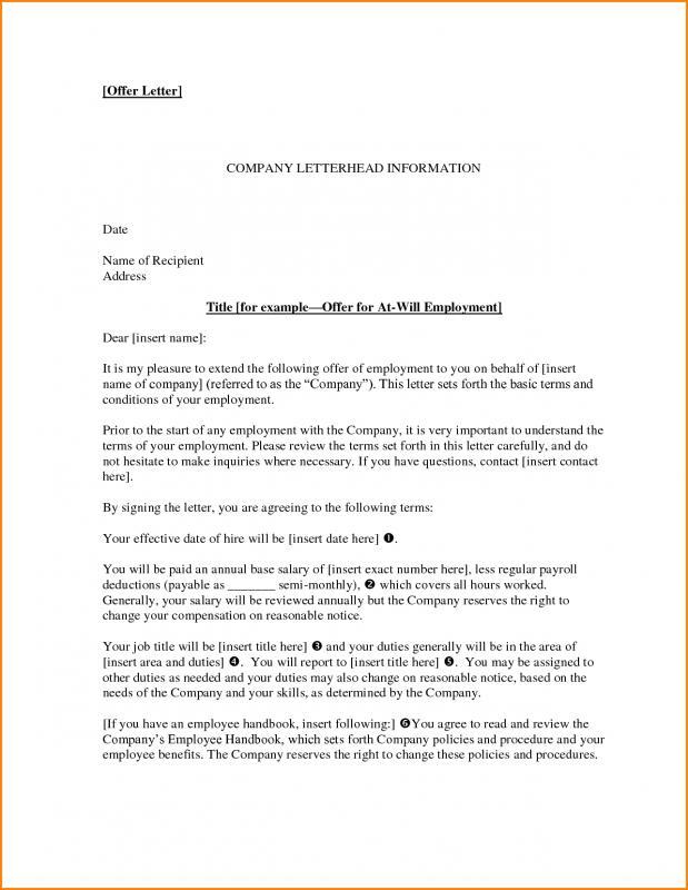 employee offer letter - Tomicrewpulse