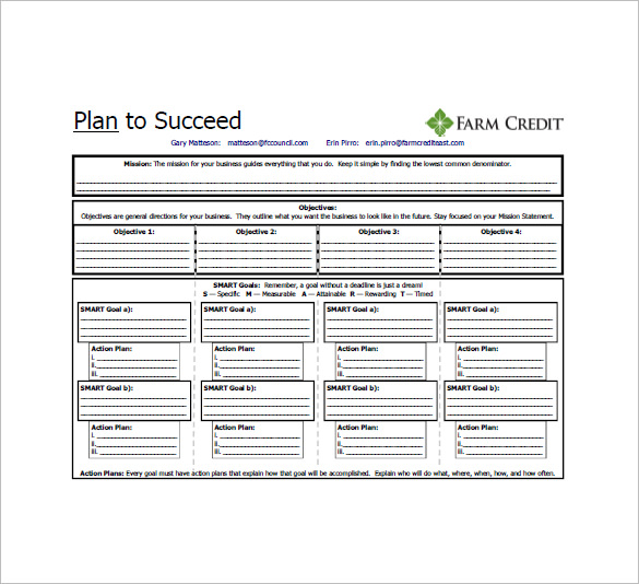 One Page Business Plan Pdf Template Business - action plan template for business