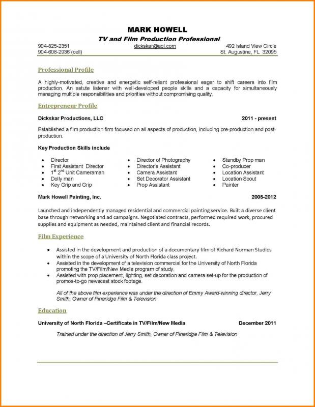 One Page Resume Examples Template Business - one page resume examples