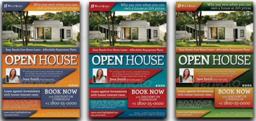 Open House Flyers Templates Template Business