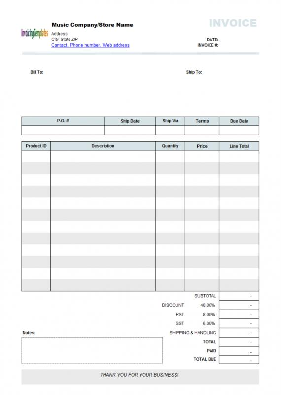 Order Form Template Word Template Business - order forms templates free word