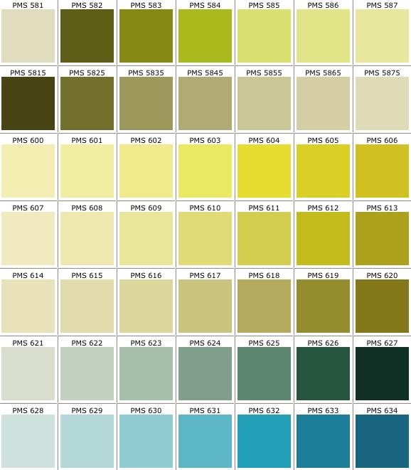 Pantone Color Chart Pdf Template Business