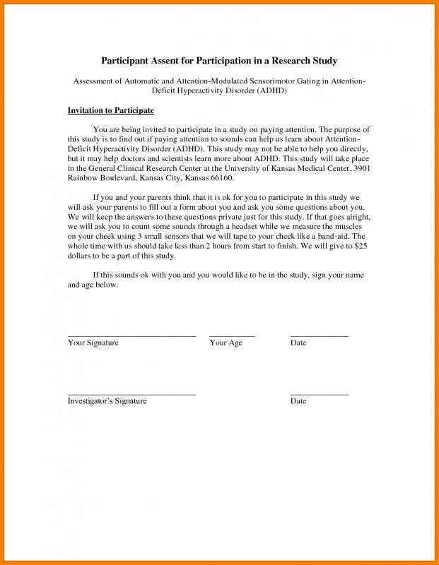 Parental Consent Form Template Business