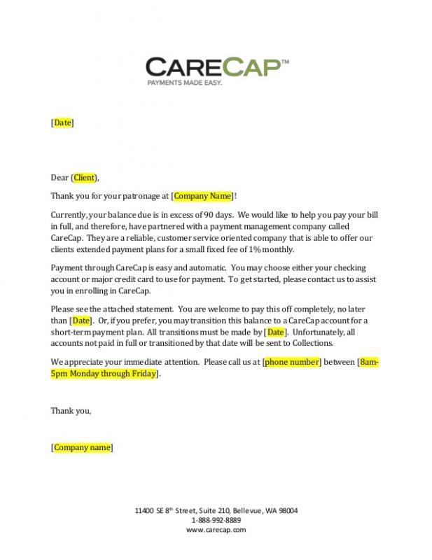 Past Due Invoice Letter Template Business