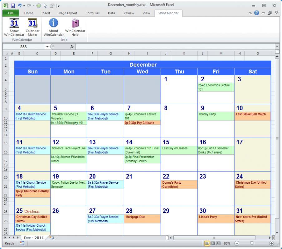 Payroll Calendar Template Template Business